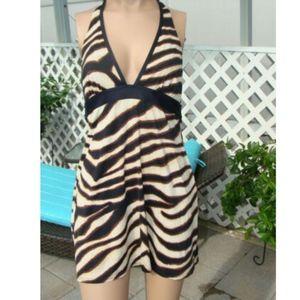 MICHAEL KORS Halter Animal Print Swimsuit Cover Up